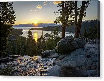 Sunrise At Emerald Bay In Lake Tahoe Canvas Print by James Udall