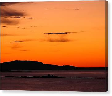 Maine Mountains Canvas Print - Sunrise At Frenchman Bay by Juergen Roth