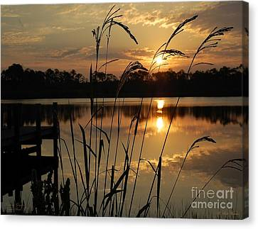 Sunrise At Grayton Beach Canvas Print by Robert Meanor