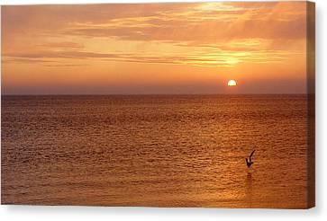 Canvas Print featuring the photograph Sunrise At Helleruphavn by Michael Canning