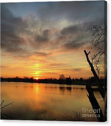 Canvas Print featuring the photograph Sunrise At Jacobson Lake by Sumoflam Photography