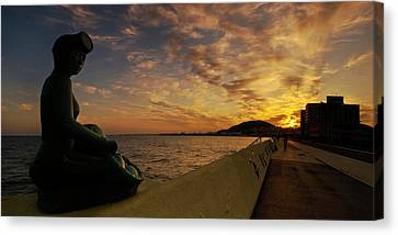 Canvas Print featuring the photograph Sunrise At Jeju Island by Ng Hock How