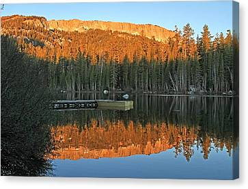 Canvas Print featuring the photograph Sunrise At Lake Mamie by Donna Kennedy
