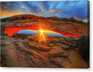 Sunrise At Mesa Arch Canvas Print