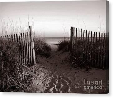 Sunrise At Myrtle Beach Sc Canvas Print by Susanne Van Hulst