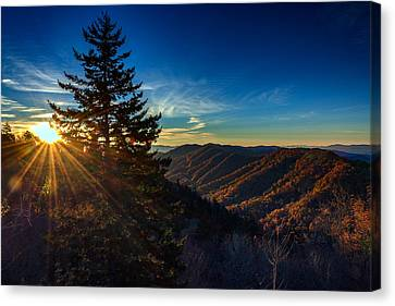 Sunrise At Newfound Gap Canvas Print