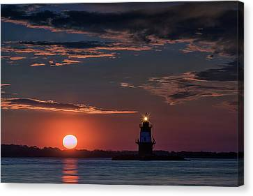 Sunrise At Orient Point Canvas Print by Rick Berk