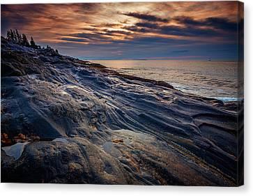 New England Lighthouse Canvas Print - Sunrise At Pemaquid Point by Rick Berk