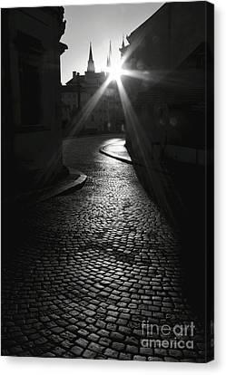 Sunrise At Prague Canvas Print by Hideaki Sakurai