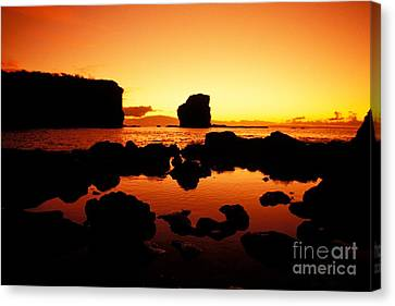Sunrise At Puu Pehe Canvas Print by Ron Dahlquist - Printscapes