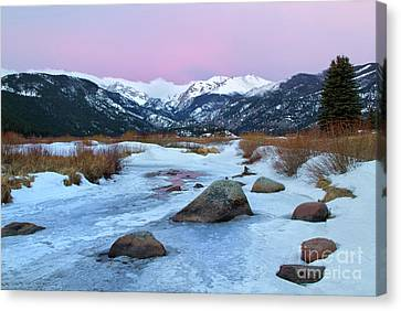 Sunrise At Rocky Mountain National Park Canvas Print by Ronda Kimbrow