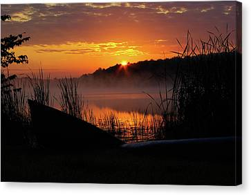 Sunrise At The Boat Launch Canvas Print