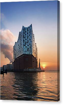 Canvas Print - Sunrise At The Elbe Philharmonic Hall by Marc Huebner