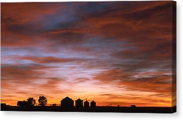 Canvas Print featuring the photograph Sunrise At The Farm by Monte Stevens