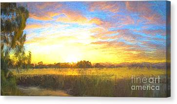 Sunrise At The Inlet 2 Canvas Print