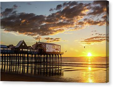 Sunrise At The Pier Canvas Print by Shared Perspectives Photography - Jason Baldwin