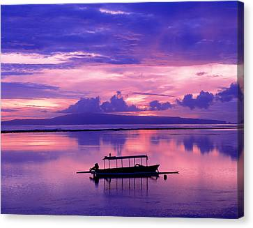 Sunrise Balisanur Indonesia Canvas Print by Panoramic Images