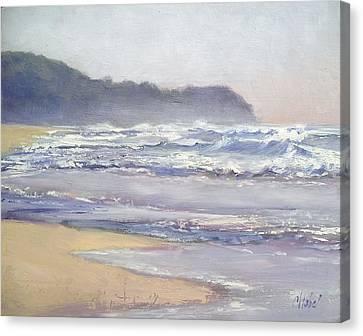 Canvas Print featuring the painting Sunrise Beach Sunshine Coast Queensland Australia by Chris Hobel