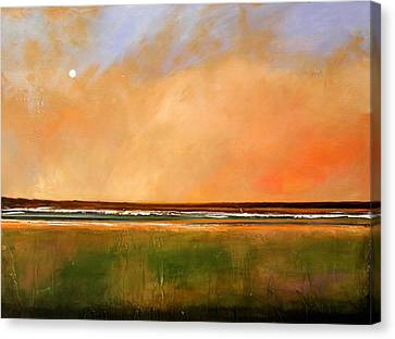 Sunrise Beach Canvas Print by Toni Grote