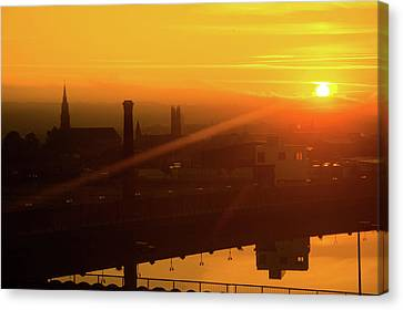 Sunset Belfast Canvas Print