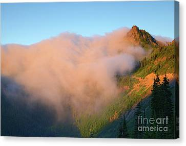 Sunrise Chinook Pass Canvas Print by Mike Dawson