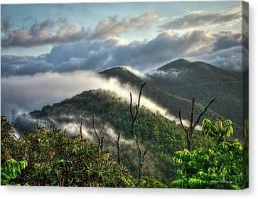 Sunrise Clouds Blue Ridge Parkway Canvas Print