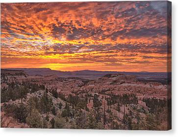 Canvas Print featuring the photograph Sunrise Explosion by Stephen  Vecchiotti
