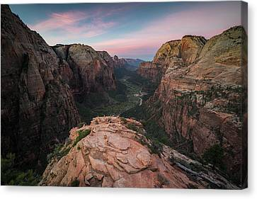 Sunrise From Angels Landing Canvas Print by James Udall