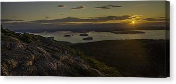 Sunrise From Cadillac Mountain Canvas Print