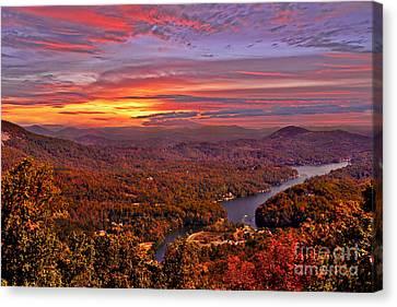 Sunrise From Chimney Rock Canvas Print