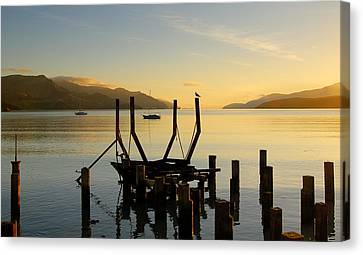 Sunrise From Governors Bay Canvas Print by Barry Culling