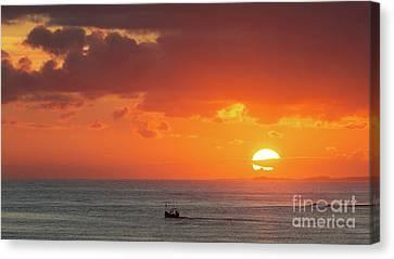 Sunrise From Holy Island Canvas Print