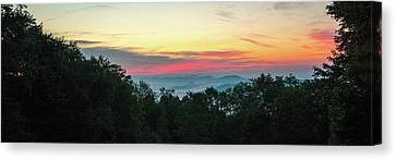 Sunrise From Maggie Valley August 16 2015 Canvas Print