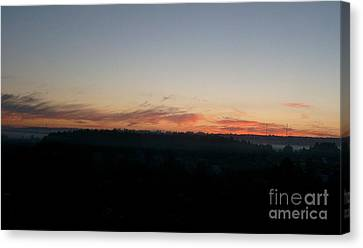 Canvas Print featuring the photograph Sunrise From The Midnight Train To Moscow by Robert D McBain