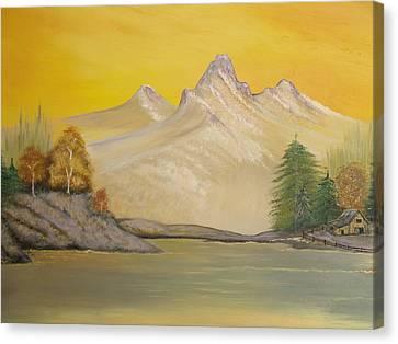Sunrise Golden Glow Canvas Print
