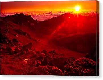 Sunrise Haleakala Canvas Print by Harry Spitz
