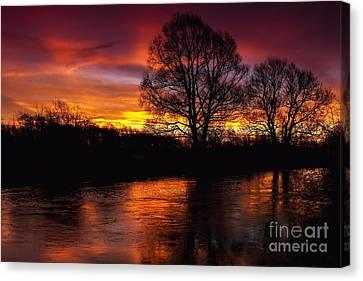 Canvas Print featuring the photograph Sunrise II by Franziskus Pfleghart