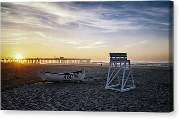 Canvas Print featuring the photograph Sunrise In Avalon by Eduard Moldoveanu