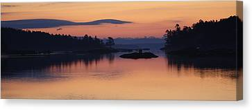 Canvas Print featuring the photograph Sunrise In Blue Hill Iv by Greg DeBeck