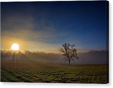 Sunrise In Cades Cove Canvas Print by Rick Berk