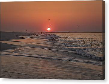 Sunrise In Cape May Canvas Print by Rick Berk