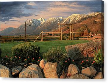Sunrise In Carson Valley Canvas Print by James Eddy