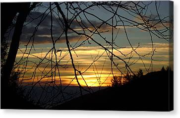Sunrise In Fracture Canvas Print