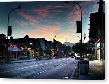 Gatlinburg Tennessee Canvas Print - Sunrise In Gatlinburg Tennessee by Greg Mimbs