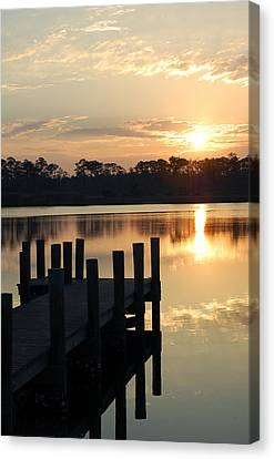 Sunrise In Grayton Beach II Canvas Print by Robert Meanor