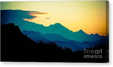 Sunrise In Himalayas Annapurna Yatra Himalayas Mountain Nepal Poon Hill Canvas Print by Raimond Klavins