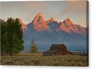 Sunrise In Jackson Hole Canvas Print