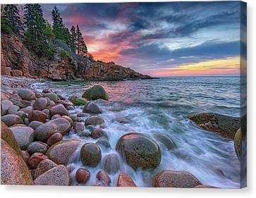 Sunrise In Monument Cove Canvas Print by Rick Berk