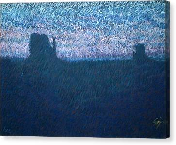 Sunrise In Monument Valley Canvas Print by Suzie Majikol Maier