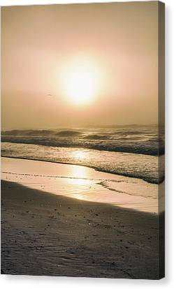 Canvas Print featuring the photograph Sunrise In Orange Beach  by John McGraw